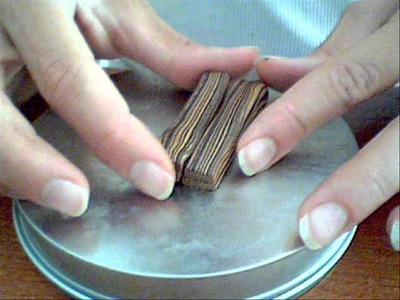 Tutorial ciondolo in fimo effetto legno con creazione di perla
