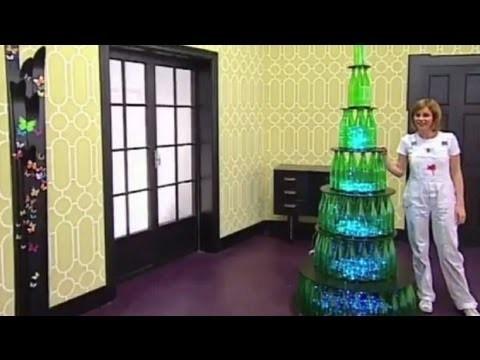 Paint your life - Albero di Natale con le bottiglie riciclate