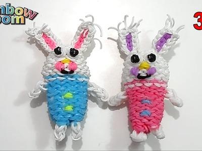 Tutorial Coniglio di Pasqua 3D con Elastici Rainbow Loom Easter Bunny