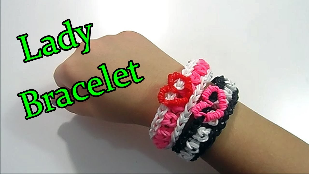 ♥ Diy Braccialetto LADY Con Elastici Rainbow Loom Tutorial ♥