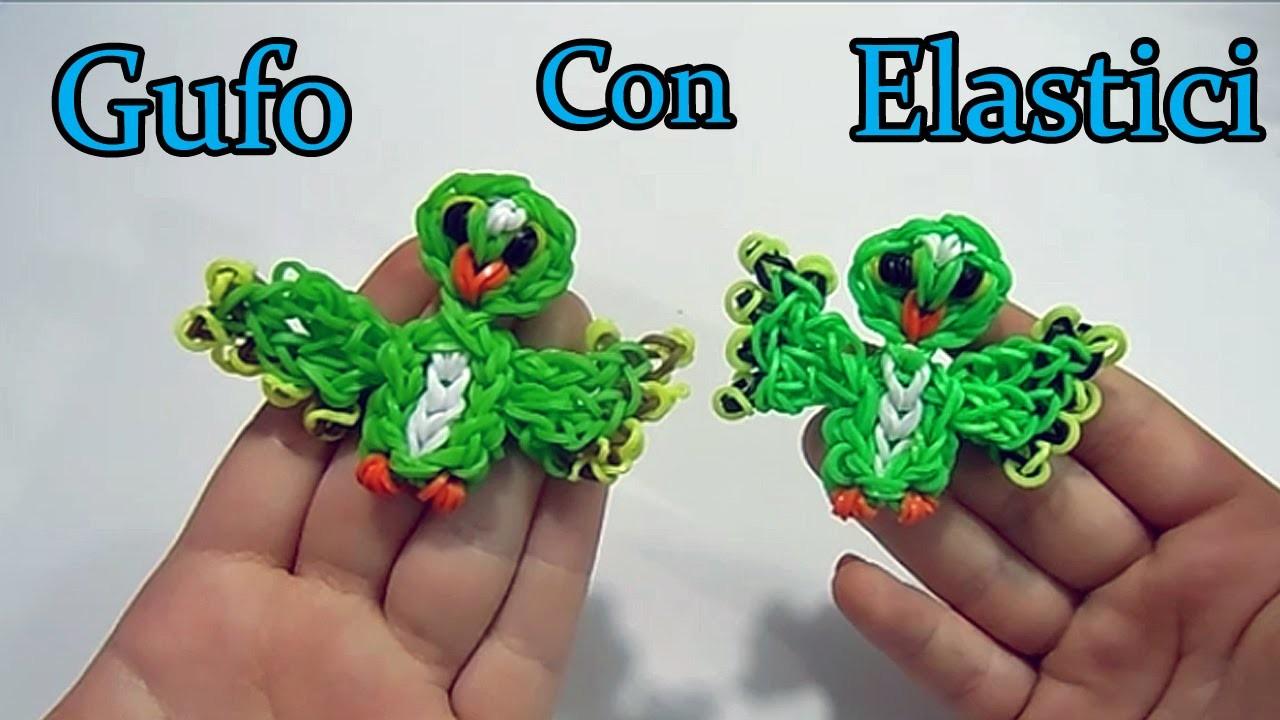 ♥ GUFO Con Elastici Rainbow Loom Owl Charm Loom Band Tutorial !♥