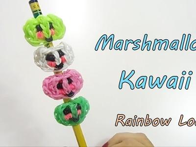 ♥ MARSHMALLOW  KAWAII Topper per Matite.Penne Con Elastici  Rainbow Loom  Tutorial  ! ♥