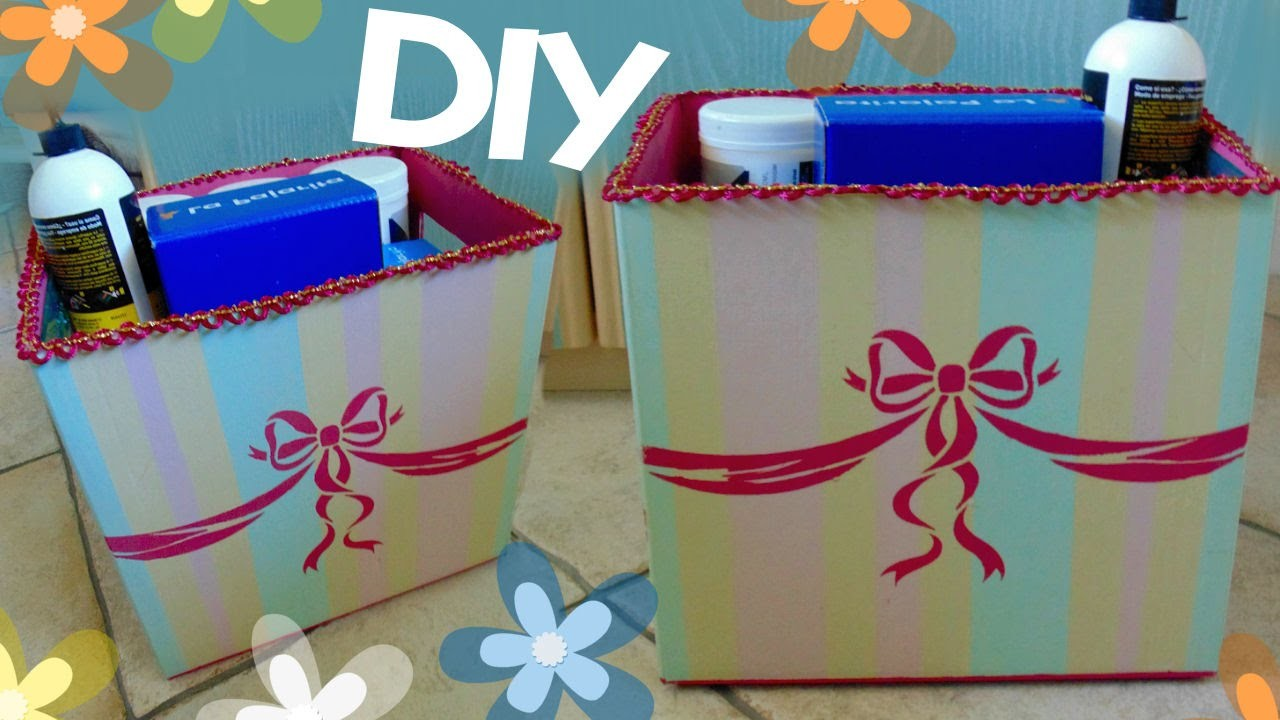 Tutorial: Contenitori super Fashion | Come riciclare vecchie scatole di cartone | DIY Kawaii Box