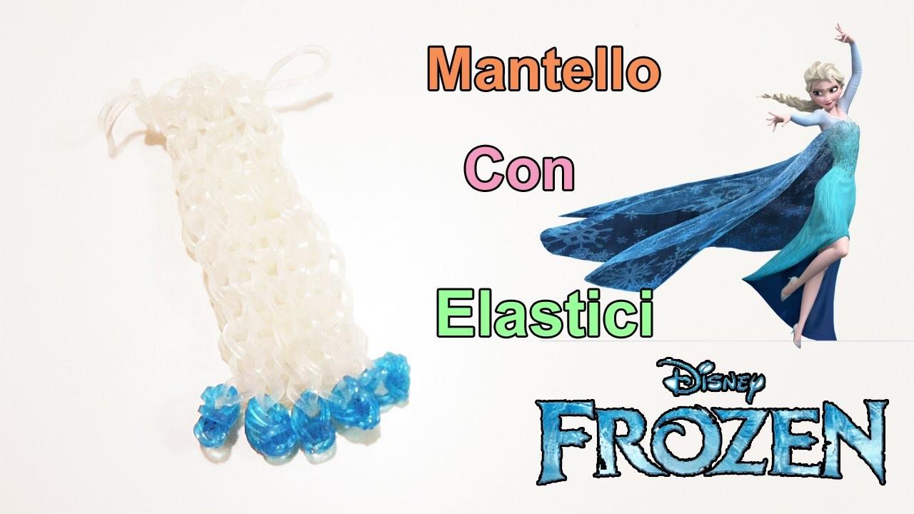 Tutorial Mantello Elsa.Frozen.Bamboline Con Elastici Rainbow Loom ❤
