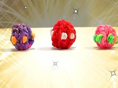 Tutorial Piccolo Ovetto Pasqua 3D con Elastici Rainbow Loom (Senza Telaio)