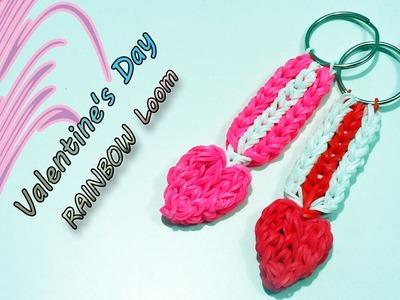 ♥ Tutorial Portachiavi Valentine's Day Con Elastici Rainbow Loom♥