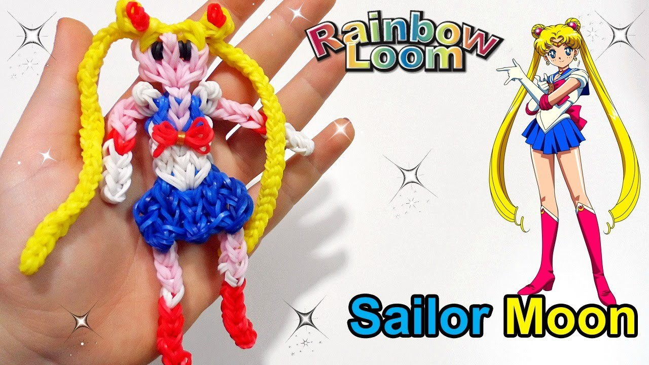 Tutorial Sailor Moon con Elastici Rainbow Loom.Rubber band ♥