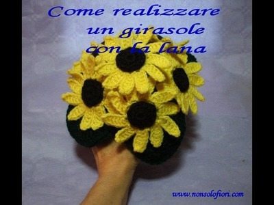 Come realizzare un girasole all'uncinetto