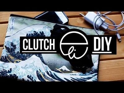 "DIY: ""La grande onda di Kanagawa"" Clutch"