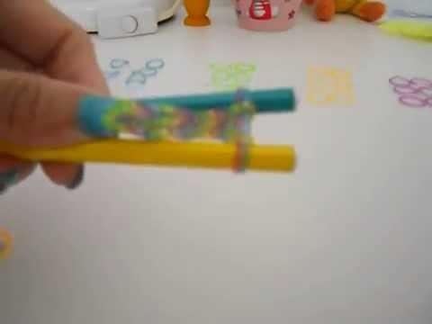 Rainbow Loom Tutorial-Braccialetto con elastici a catenella doppia senza telaio