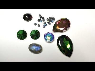 Recensione sito bijoux Perles & co, nuovi colori swarovski e i bellissimi cabochon Solaris
