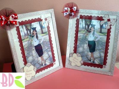 Tutorial scrap: decorazione foto e cornice - frame and photo decoration