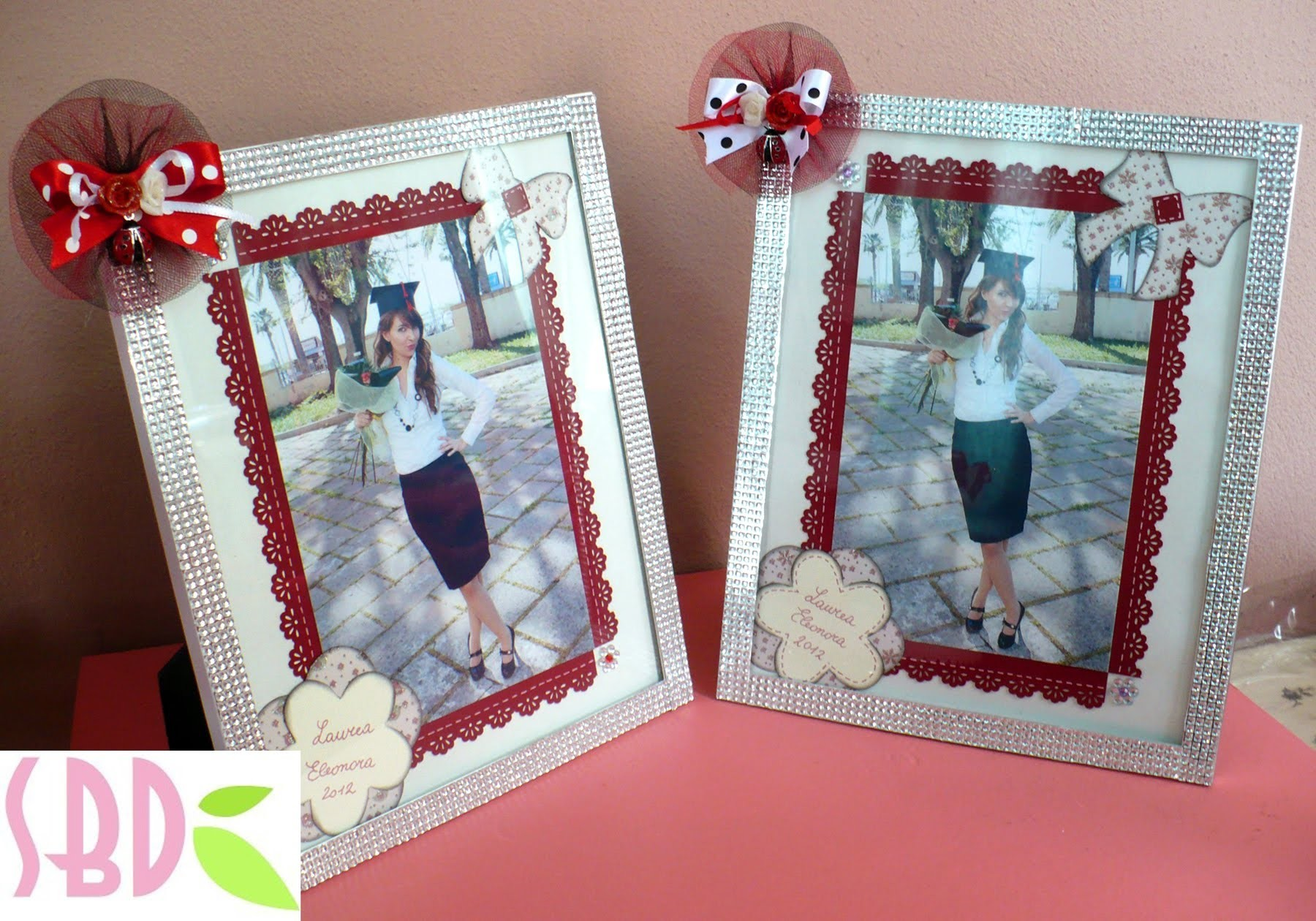 Tutorial scrap: decorazione foto e cornice - frame and photo decoration