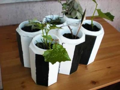 Vaso per le piante , con salva bottiglia