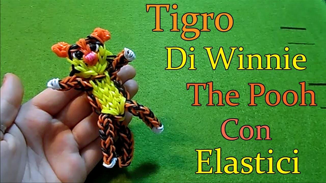 ♥TIGRO DI WINNIE THE POOH Con Elastici Rainbow Loom ♥Tutorial ♥