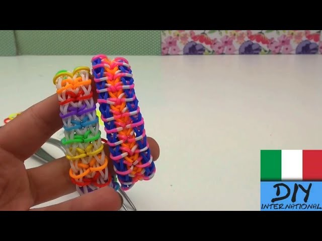 Come fare un braccialetto Zippy Chain arcobaleno con forchetta tuto