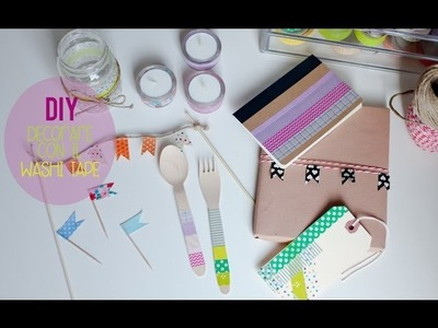 DIY: Decorare con il Washi Tape ♥ 8 semplici idee ♥