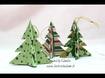 Origami Christmas Tree-Alberelli Origami- Albero di Natale Origami Facile- Natale Fai da te