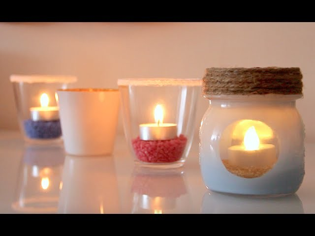 DIY Porta Candele - Candle Jar (riciclo) ENG-FR-IT-SP Subtitles