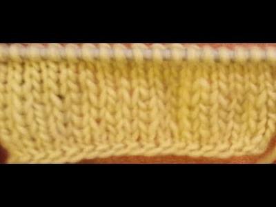 La maglia rasata inglese doppia - Tutorial maglia ai ferri