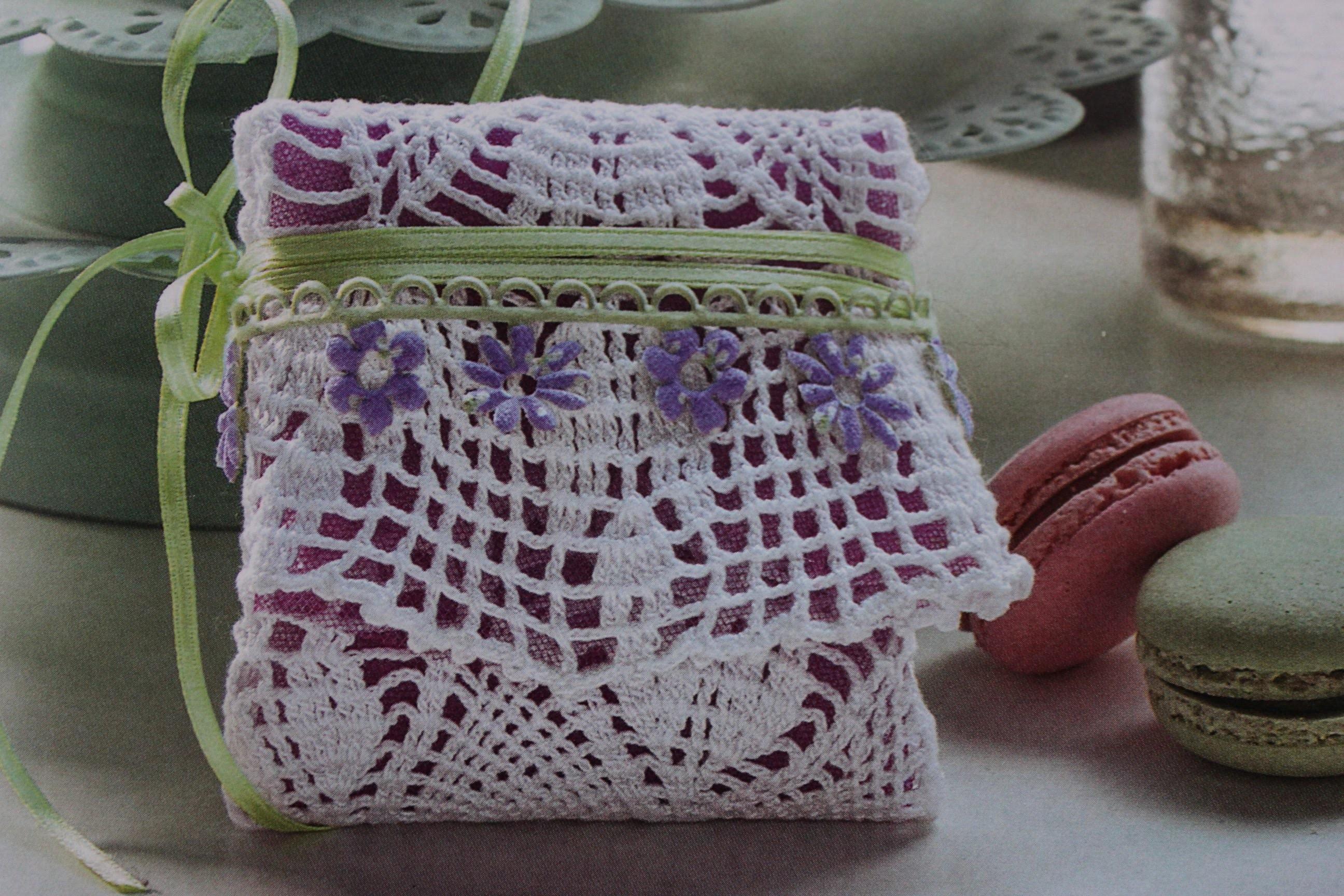 Tutorial Bomboniera porta confetti all' uncinetto (crochet) 4.4