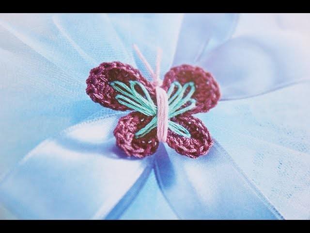 Tutorial bomboniere Farfalla Uncinetto (Crochet) 1.3