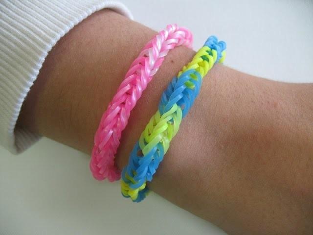 Rainbow Loom  Tutorial braccialetti con elastici