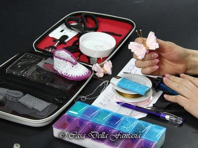 Video Tutorial Farfalla di raso rosa con perline di cristallo DIY 1080p Idea regalo ITA