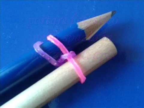 Rainbow Loom - braccialetto con elastici a catenella singola senza telaio (Tutorial in italiano)