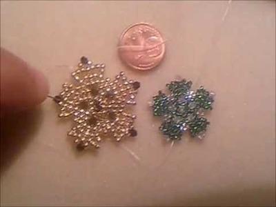 Nuove creazioni: stelle quinquefolia di perline rocailles e cristalli swarovski per gioielli