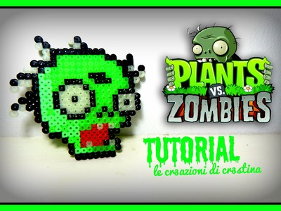 Zombie per Halloween con HAMA BEADS - DIY Perler beads Plants vs Zombies Tutorial