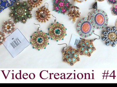 Video Creazioni #4 - Orecchini Ciondoli Anelli - Peyote Embroidery Tessitura Perline Bijoux DIY