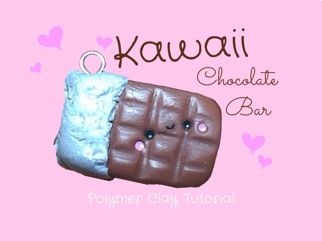Tavoletta di Cioccolato Kawaii 。◕‿◕。 Kawaii Chocolate Bar ~ Polymer Clay Tutorial