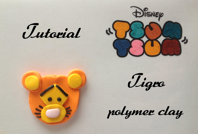 Tutorial Disney TSUM TSUM polymer clay (winnie the pooh): Tigro
