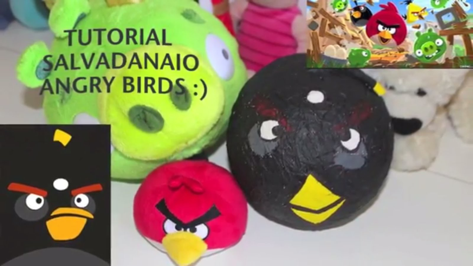 DIY: TUTORIAL salvadanaio Angry Birds Facile da realizzare #2