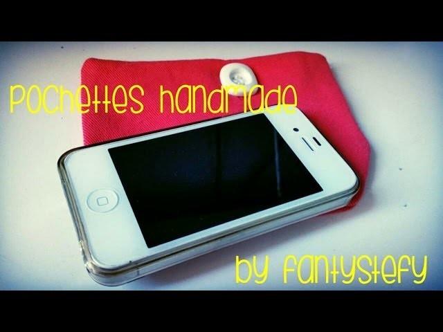 DIY tutorial pochettes handmade |FANTYSTEFY