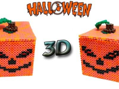 ZUCCA DI HALLOWEEN 3D Hama Beads.Perler Beads Pumpkin