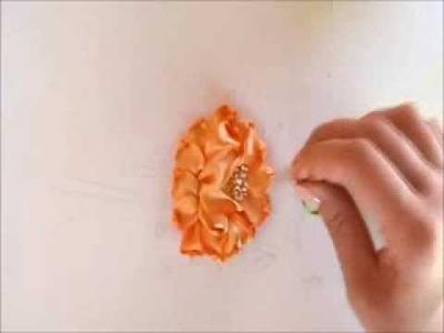 Lezione di ricamo2. Haute Couture embroidery school in Rome. Kурс вышивки лентами.