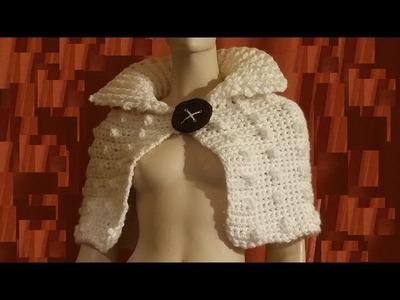 Coprispalle all'uncinetto - shoulder cover  shawl crochet - tutorial capa en crochet