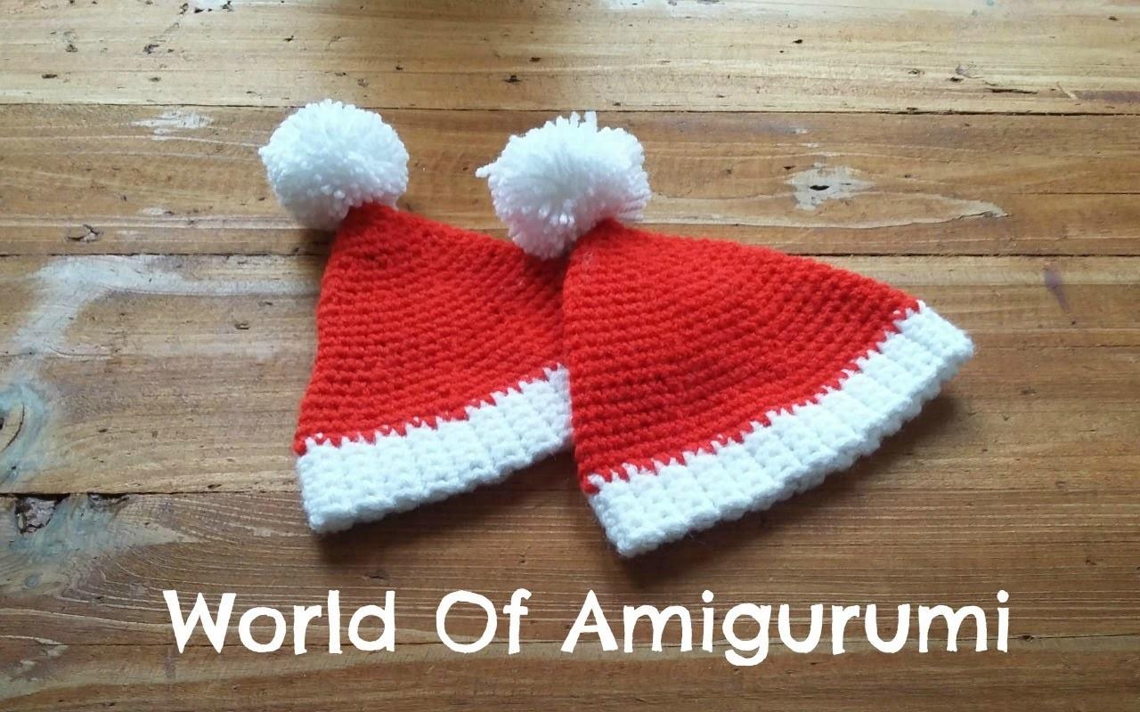 Cappello di Babbo Natale per Amigurumi | How to crochet a Santa Claus hat