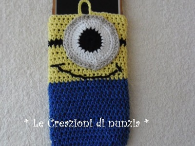 Video Tutorial Sacchetto porta-cellulare MINION a uncinetto !!!