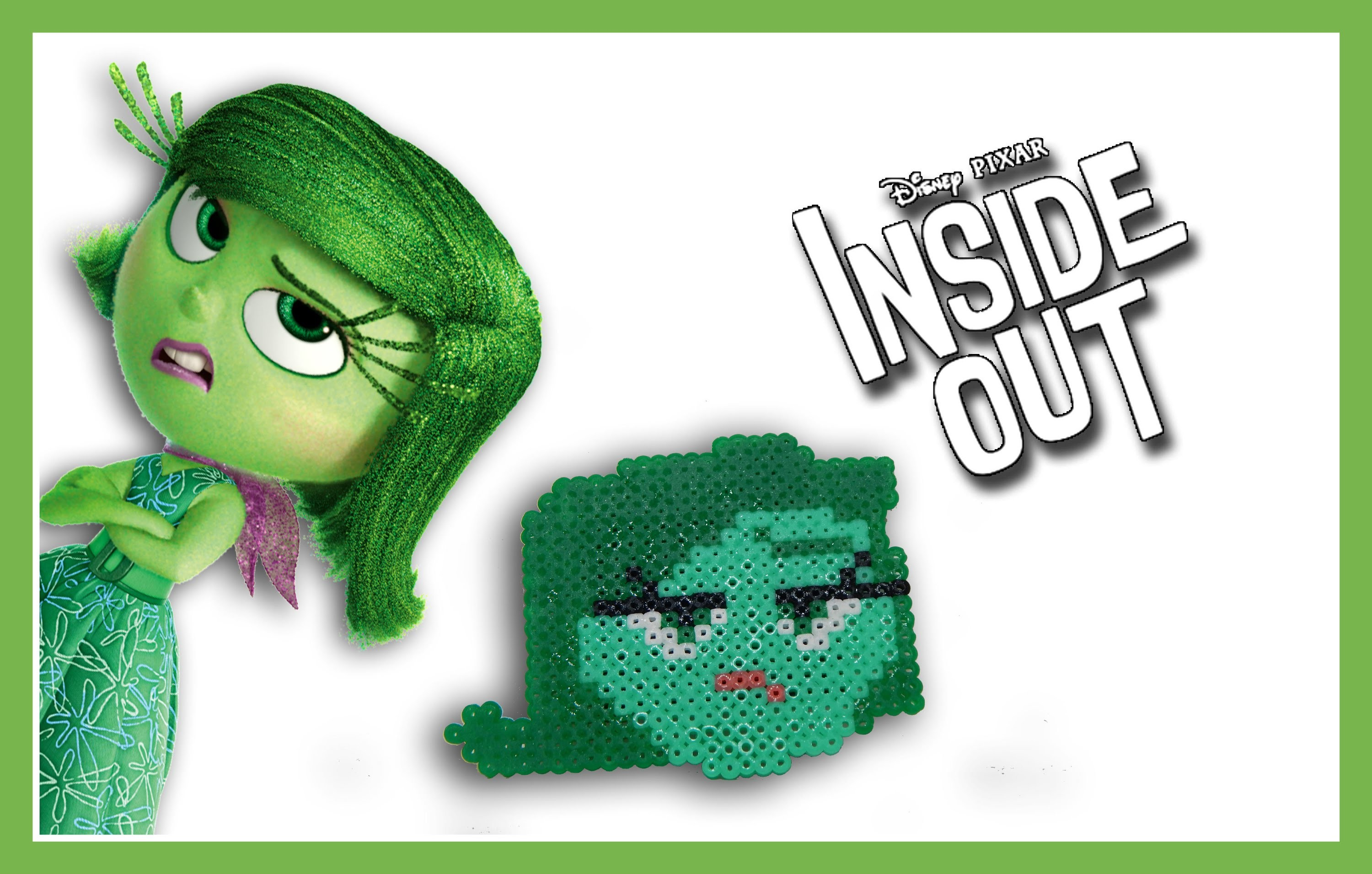 DISGUSTO di Inside Out con HAMA BEADS.Perler beads - DIY Disgust Charm Tutorial