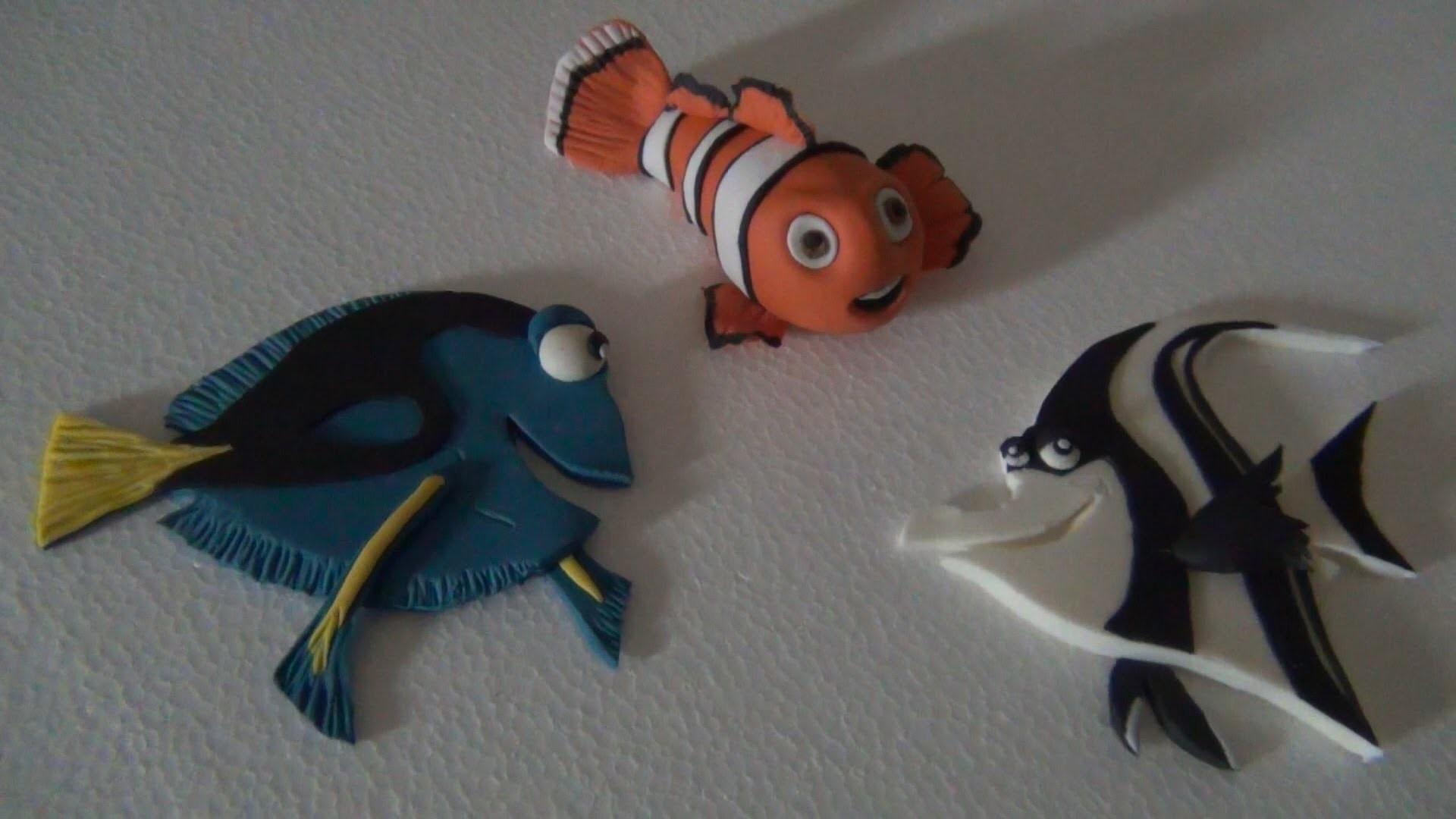Tutorial Nemo e amici  in pasta di zucchero, Clownfish Toppers Nemo