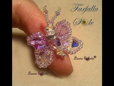 DIY Tutorial Farfalla Sole: anello di cristalli e perline seconda parte
