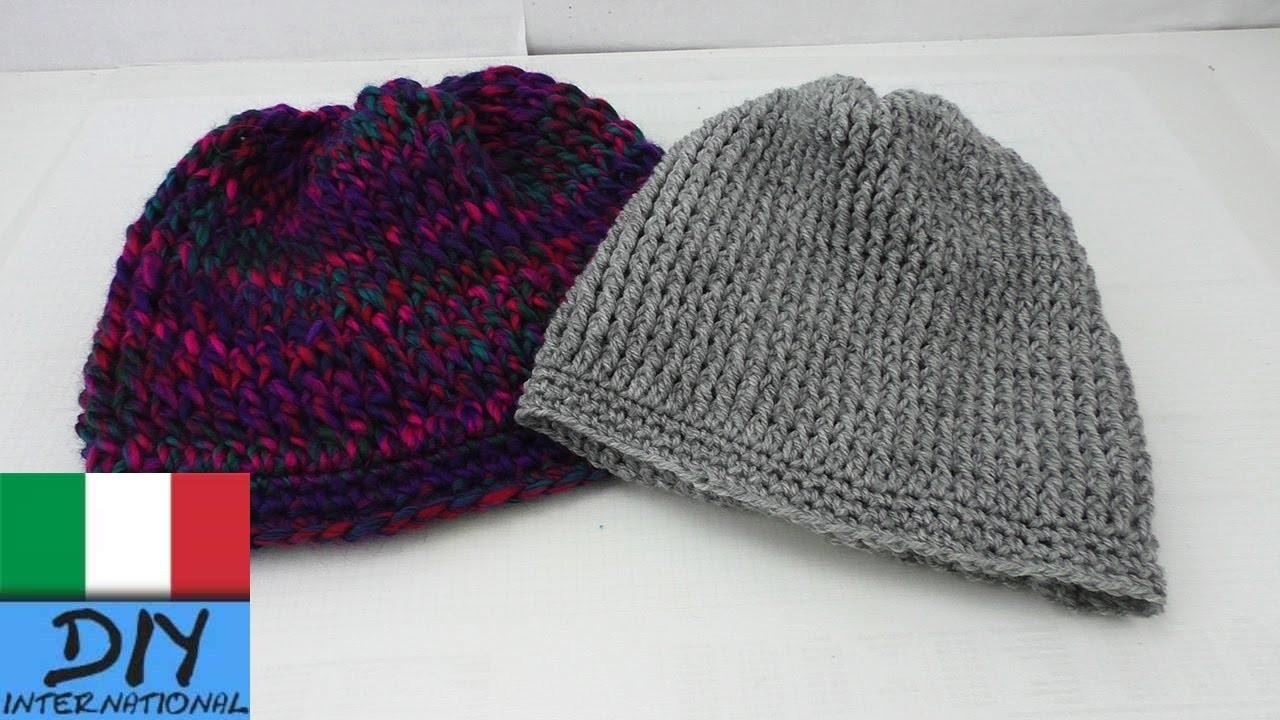 Berretto lungo ad Uncinetto - Beanie Crochet guida per principianti