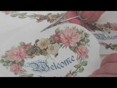 Video Corso:Scatola effetto spatolato invecchiato.Progetto di Letizia Barbieri