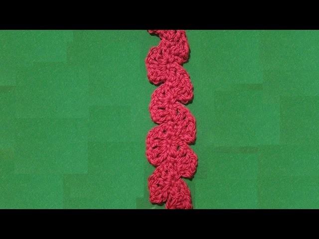 Sciarpa all'uncinetto ventagli verticali - tutorial - crochet scarf - bufanda en crochet