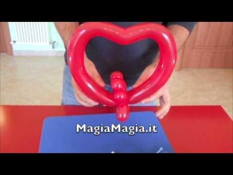 Sculture con i palloncini 5 cuore tutorial