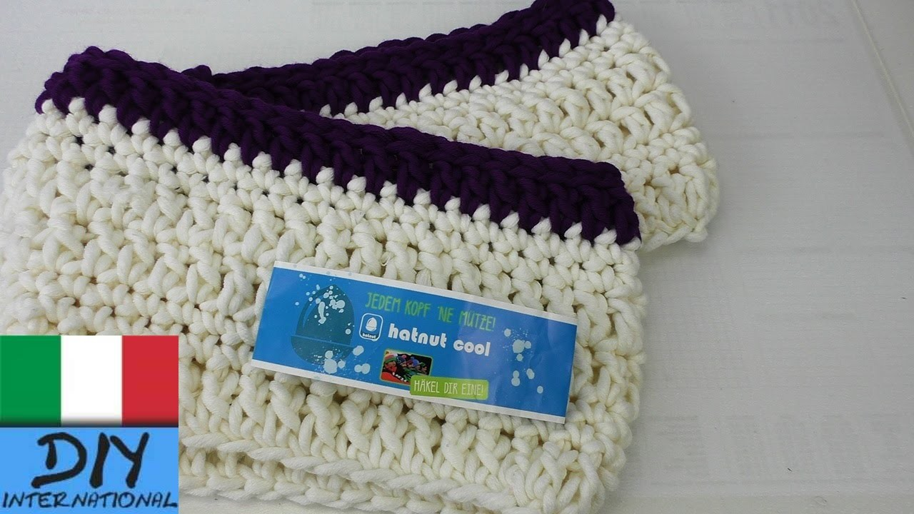 Sciarpa Loop Crochet per principianti – sciarpa loop all'uncinetto e bacchette