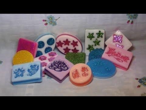Tutorial: Saponette a strati e con timbri (handmade soap)